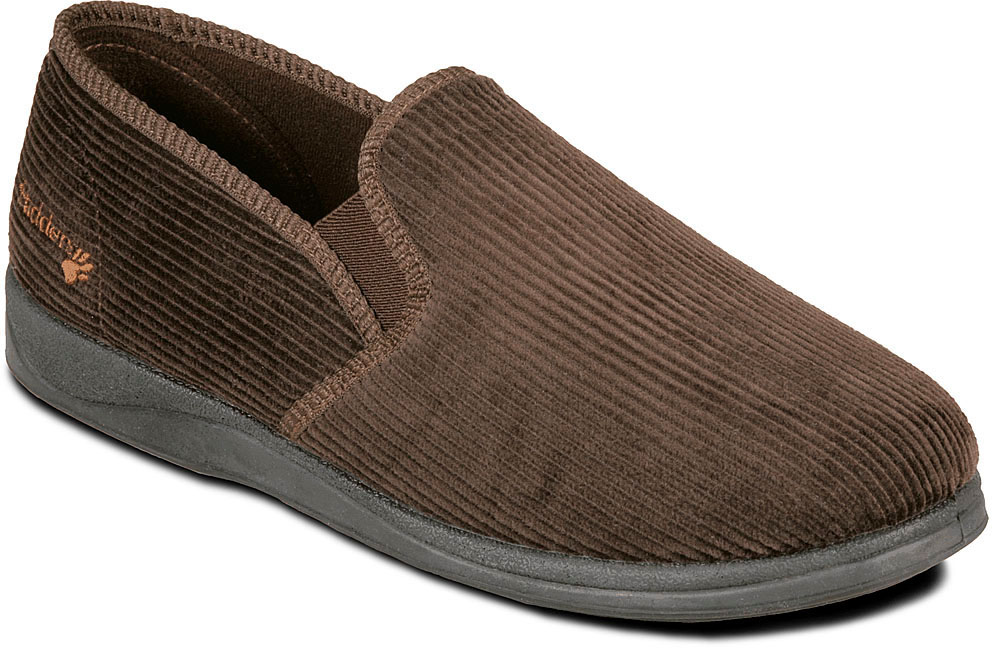 10b412da252d59 Albert Wide slipper available in Navy Brown or Grey