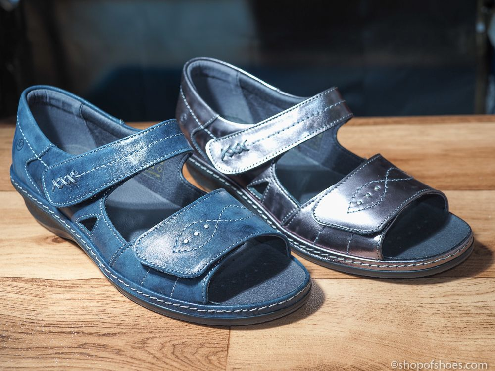 5bd5efff76f Hilda Ladies leather comfort E - EE perfect fitting Velcro sandal.  Available to buy online or collect from our Whitchurch Hampshire shop right  between ...