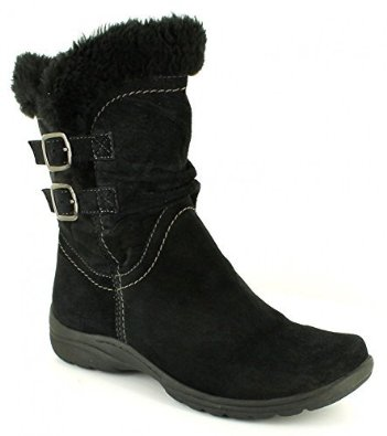 Lewiston boot from Earth Spirit available in Black and Bark