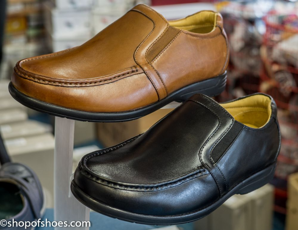Mens extra wide fit leather great value