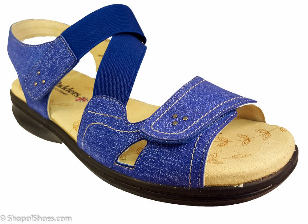c32be55b3726 Padders sandal Louise in Royal blue extra wide adjustable sandal that can  be tried on right now in our shop on the Hampshire Berkshire Border between  ...